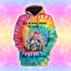 Sunflower Hippie Old Woman 3D All Over Print | Hoodie | Unisex | Full Size | Adult | Colorful | HT3381