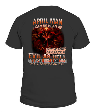 April Man Unisex T Shirt | Full Size | Adult | Black | K15784
