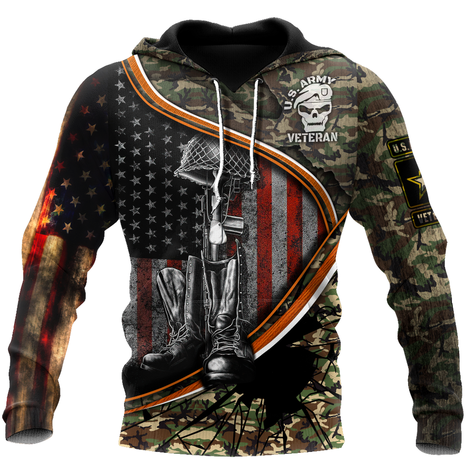 US Veteran 3D All Over Print | Hoodie | Unisex | Full Size | Adult | Colorful | HT3410