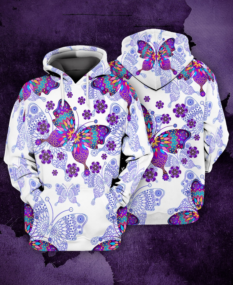 Butterfly 3D All Over Print | Hoodie | Unisex | Full Size | Adult | Colorful | HT3608