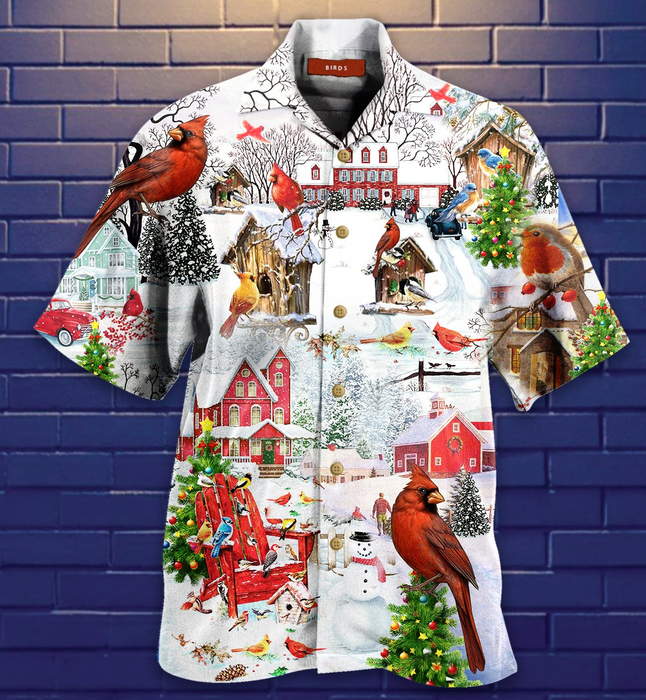 Amazing Christmas Birds Hawaiian Shirt | Unisex | Full Size | Adult | Colorful | HW2075