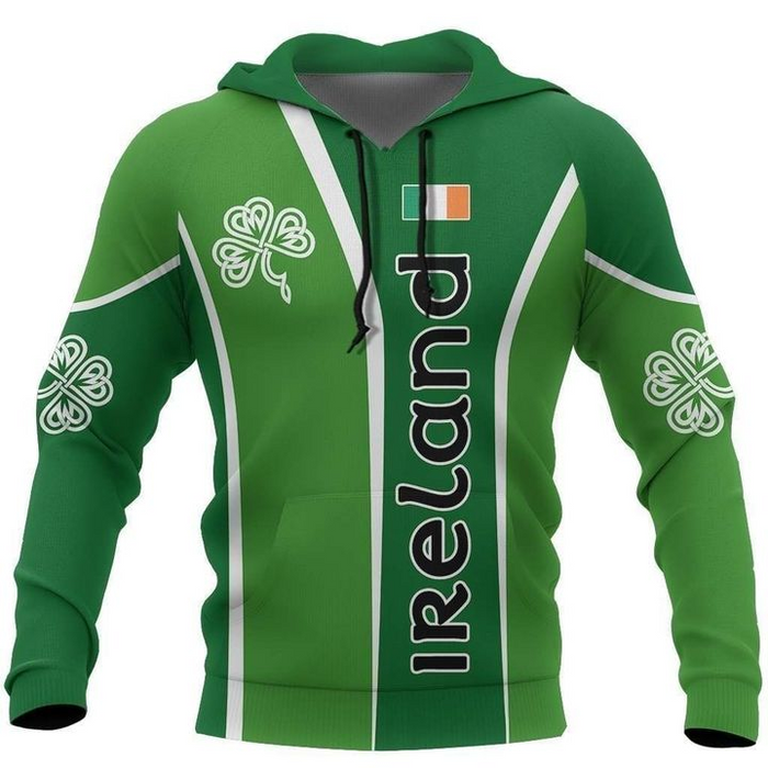 Celtic Ireland Shamrock Sport Style Irish St Patrick's Day 3D All Over Print | Hoodie | Unisex | Full Size | Adult | Colorful | HT5893