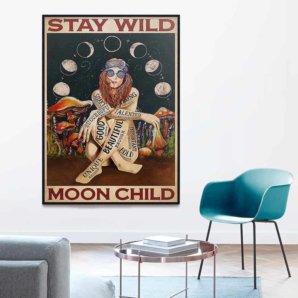 Stay Wild Edge-to-edge Printed Poster | 200 GSM Paper | 11x17 inch | 16x24 inch | 24x36 inch | Colorful | P1214