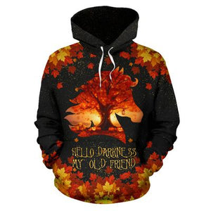 Horse - Leaves Autumn Pumkin 3D All Over Print | Hoodie | Unisex | Full Size | Adult | Colorful | HT2563