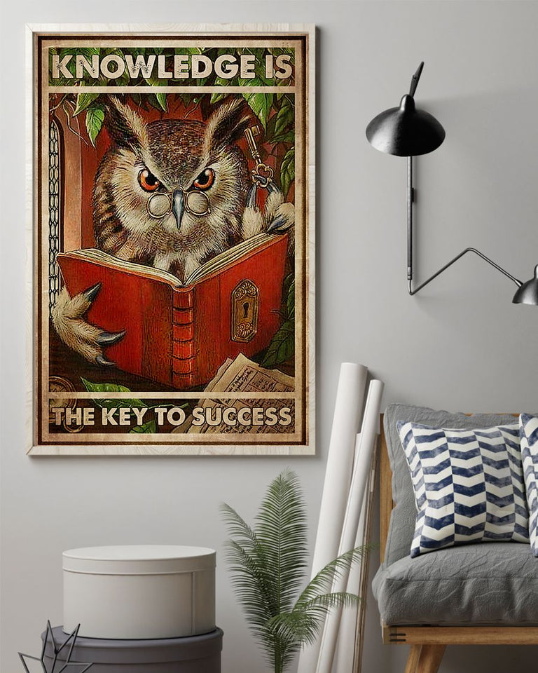Knowledge Is The Key To Success Edge-to-edge Printed Poster | 200 GSM Paper | 11x17 inch | 16x24 inch | 24x36 inch | Colorful |P1387