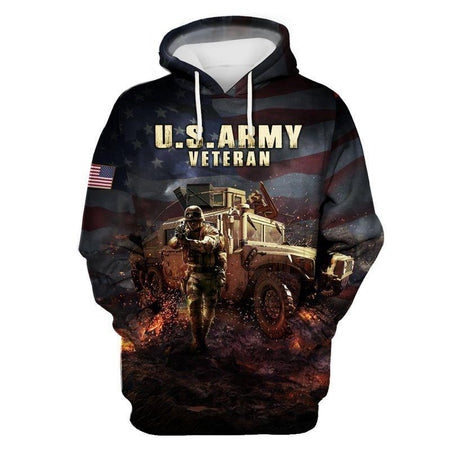 US Army Veteran 3D All Over Print | Hoodie | Unisex | Full Size | Adult | Colorful | HT2854