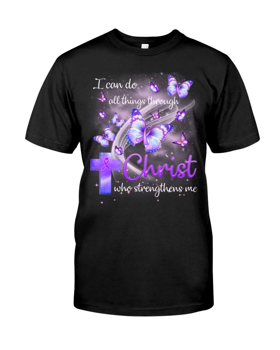 Fibromyalgia Awareness Christ Unisex T Shirt | Full Size | Adult | Black | K1192