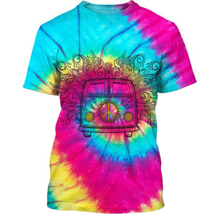 Hippie Colorful 3D All Over Print | Hoodie | Unisex | Full Size | Adult | Colorful | HT3460