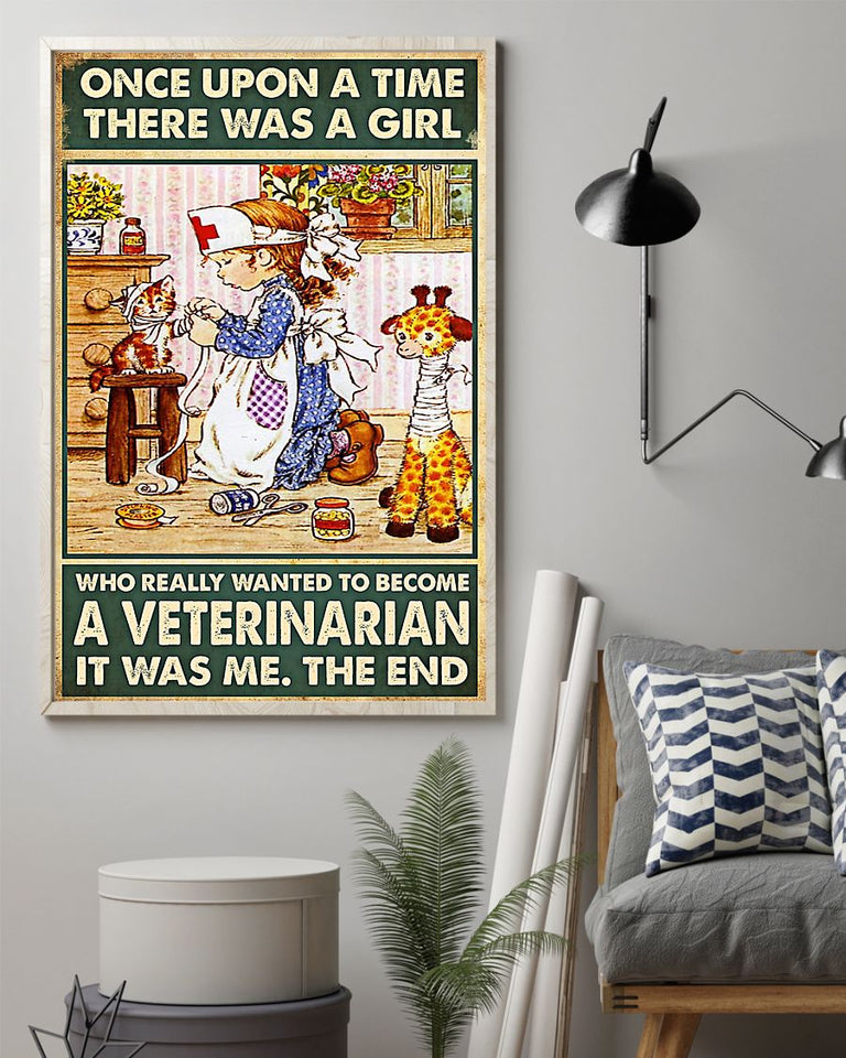 Veterinary A Girl Really Wanted To Become A Vet Edge-to-edge Printed Poster | 200 GSM Paper | 11x17 inch | 16x24 inch | 24x36 inch | Colorful | P1094