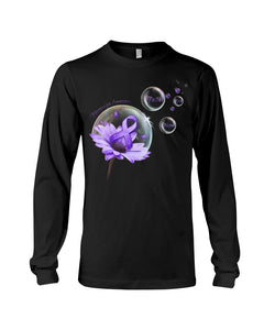 Fibromyalgia Awareness Flower Unisex T Shirt | Full Size | Adult | Black | K1195