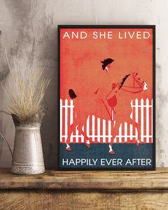 Horse Riding Happily Ever After Edge-to-edge Printed Poster | 200 GSM Paper | 11x17 inch | 16x24 inch | 24x36 inch | Colorful | P1326