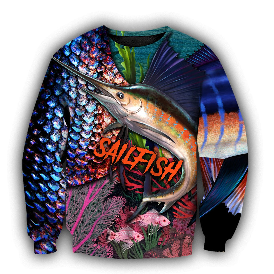 Sailfish Fishing 3D All Over Print | Hoodie | Unisex | Full Size | Adult | Colorful | HT2570