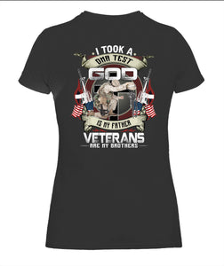 I Took A DNA Test God Veteran Unisex T Shirt | Full Size | Adult | Black | K2548
