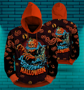 Amazing Pumpkin Halloween 3D All Over Print | Hoodie | Unisex | Full Size | Adult | Colorful | HT3401
