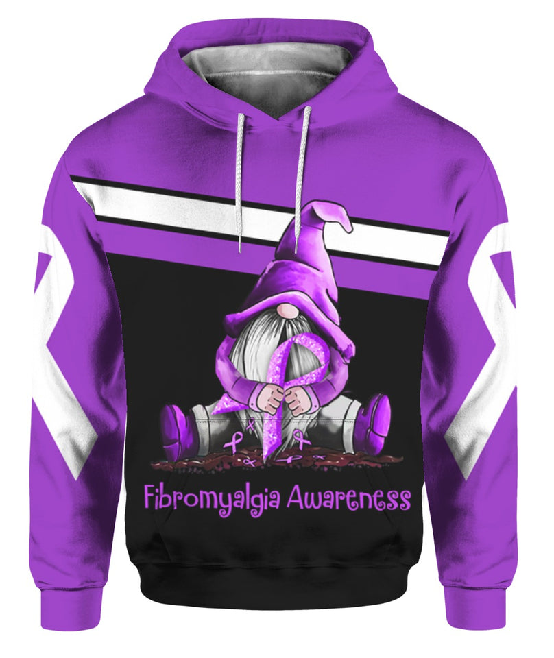Fibromyalgia Awareness 3D All Over Print | Hoodie | Unisex | Full Size | Adult | Colorful | K1116