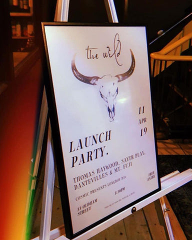 The Wild launch party poster