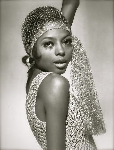 Diana Ross Gold Crochet Dress
