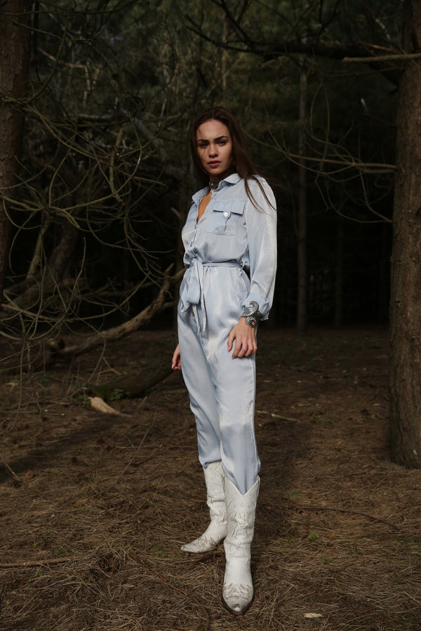 Bowie Ice Blue Jumpsuit