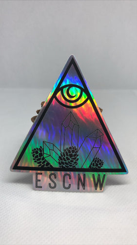 Holographic ESCNW Logo Sticker