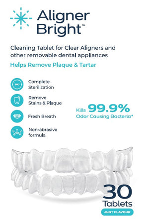 Aligner Bright - Clear Aligner and Denture Cleaning Tablet