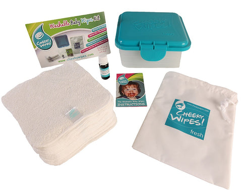 Washable Wipes Kit for Disposable or Cloth Nappy Users. A Chemical-free Alternative to Disposable Baby Wipes. Soft and Natural 99% water and 1% safe essential oil blend is great for sensitive skin, eczema or nappy rash. Hassle free system delivers fresh wipes all day in just minutes.
