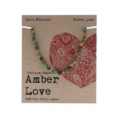 Amber Love Children's Necklace Baltic Amber Forrest Love
