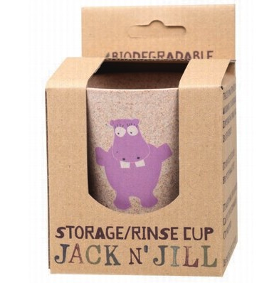 Jack N' Jill Biodegradable Storage/Rinse Cup Hippo