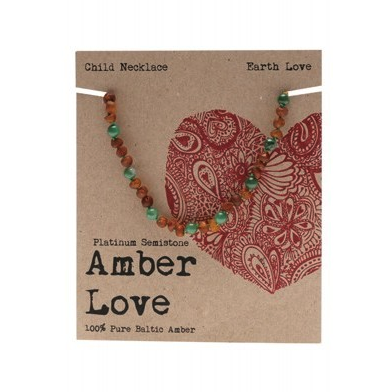 Amber Love Children's Necklace Baltic Amber Earth Love