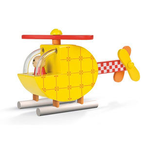 This cleverly designed helicopter is made from wood and comes apart into 5 pieces. Each piece has magnetic connectors that encourage you to fit it back together. The movable propeller will even inspire the adults to have a go! Dimensions: 19.5cm x 6cm x 10cm. Age Range: 18 months+.