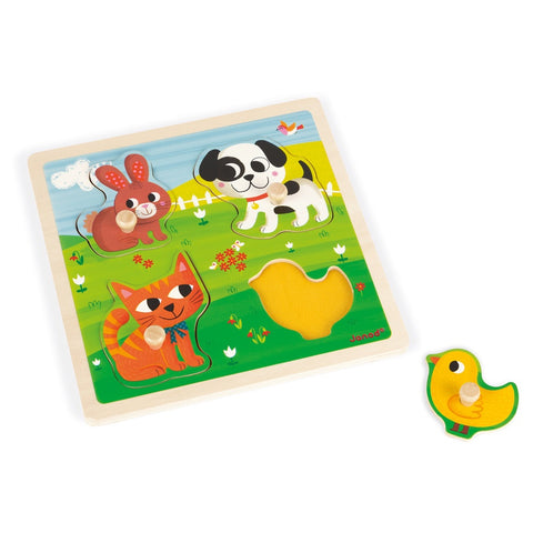 Janod Tactile Puzzle First Animals
