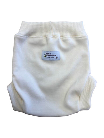 BBH Wool Cover Made from 100% Australian Wool, our beautiful wool covers are the ultimate cover for your night nappy (but also great for day times). Wool is the perfect material for a night nappy cover due to its ability to hold wetness without feeling wet, and it's superior breathability.