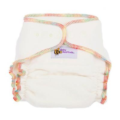 One of the most versatile modern cloth nappies (MCN) you will find! Team with a PUL Cover (waterproof cover) for Day OR a Wool Cover for Nights and you are away! They will fit the average sized baby through from birth to toddlerhood.  Each nappy includes 1 long & 1 short insert which are snapped into the front or back.