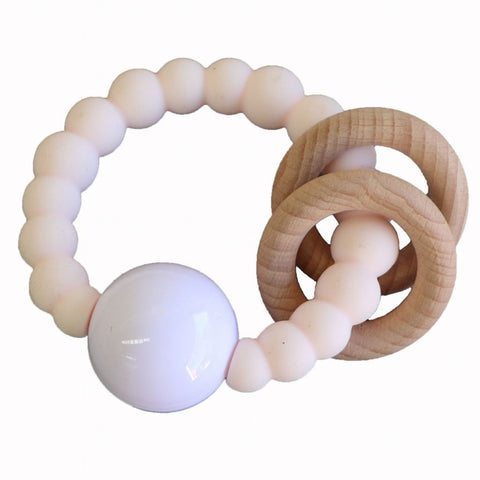 Jellystone Cloud Teether Blush and White