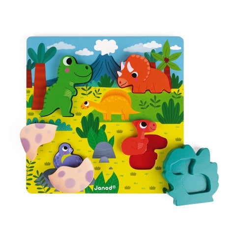 Janod Hide and Seek Dino Puzzle