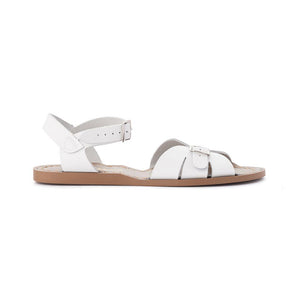 The Salt Water Classic, made from waterproof leather and a rustproof buckle. Adult sizes for the beach. Hand-stitched, non-slip, moulded rubber sole with adjustable straps – which makes them great for those who want something other than a standard fitting sandal.