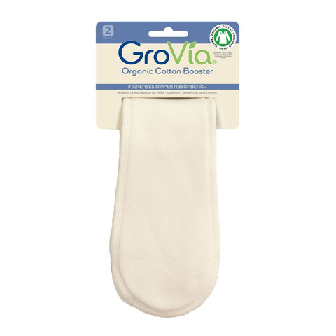 Needing more absorbency for your GroVia™ Modern Cloth Nappy? Simply lay one of these Organic Cotton Booster on top of your Soaker Pad. 3 layers of thirsty Organic Cotton! Perfect for naps, nights, or long car rides. These will boost the absorbency of your nappy without adding bulk! Made with 100% Organic Cotton.