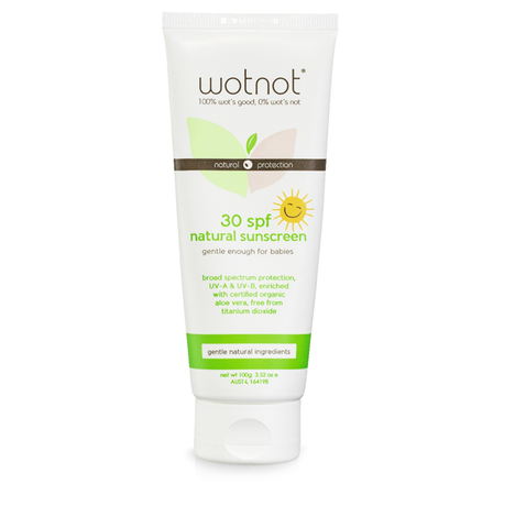 Wotnot baby sunscreen will protect your baby and family naturally and has been developed in response to feedback and requests from our customers. Winning the Nature & Health awards for Best Sunscreen in 2013 means that we are not the only ones who love it!