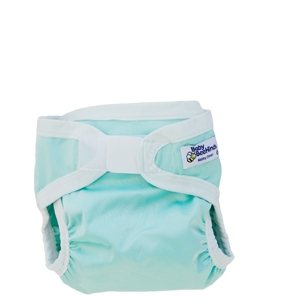 A beautifully soft, water-resistant PUL nappy cover designed for use over your Modern Cloth Fitted Nappies, Prefolds, Flats, Night Nappies or even over disposables to keep 'code brown' situations contained. Contoured Shape for All Sizes. Velcro brand waist closure gives you peace of mind that everything is secure.