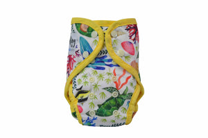 These washable swim nappies fit most babies from birth to 16 kg. And the best news is they are built to contain any of those nasty surprises that tend to come at the most inconvenient times. Paddle Pants are environmentally sustainable, simple to use and economically sound!