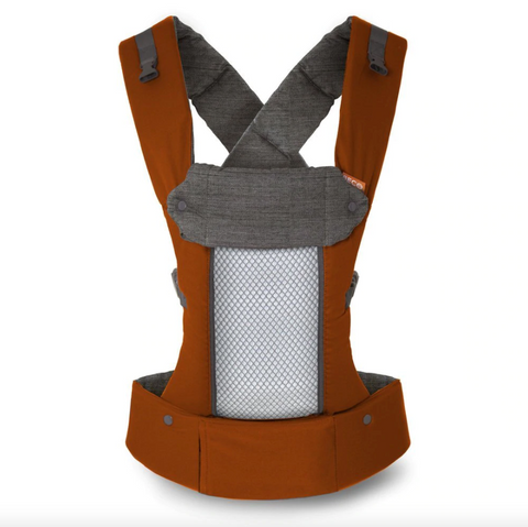 The Beco 8 is a great baby carrier option for growing babies. It can be used from newborn up to toddlerhood, with an upper limit of 20 kg. 4 ergonomic carry positions - front inwards, outwards, hip & back. The straps can be crossed or worn backpack style, and are dual adjustable from top and bottom.