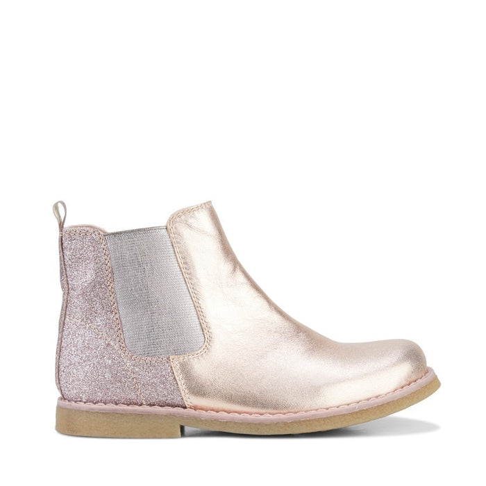 Clarks Chelsea Boot Rose Gold/Glitter