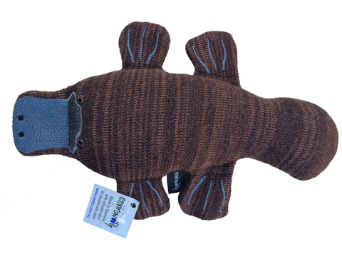 "The ""Envirowoolly"" range of Australian animals. Made from knitted woollen offcuts, with their filling made from Tastex's own recycled waste wool product - making them both sustainable and environmentally friendly.  These innovative toys are providing Tastex with ongoing training opportunities for Supported Employees."