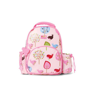 The Penny Scallan medium kids backpack is just right for little people. Fits all the essentials for kinder, school, day care or a day out! Two front pockets, zippered pocket on the side and a drink bottle holder. Made from 100% cotton canvas, polyester lined and scratch resistant coating. Easy to wipe clean. BPA FREE.