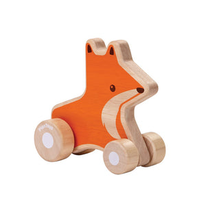 Little Fox Wheelie is a perfectly fit for a young child's hand. Baby will enjoy rolling it around. Suitable from 12mth + Product Dimension: 5.4x12.7x11.6 cm / 2.13x5x4.57 inch Item Weight: 0.13 kg / 0.287 lbs