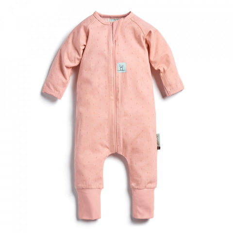Best for newborns to infants. Designed to be worn under the Ergopouch range. The Long Sleeve Layer is an ideal pyjama for most of the year. 0.2 TOG Cool Layer 24-26°C. Three-way zip for easy nappy changes and toilet training. Made from organic cotton for a healthy, safe sleep and gentle on sensitive new skin.