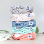 Our newest colours & limited edition prints for 2019 are here in our NEW All-In-Two (one-size) Modern Cloth Nappy style. Designed for quick change time, interchangeable inserts, excellent absorbency. The perfect nappy for day care, grandparents or people starting out. Suitable to use on babies from 4kg