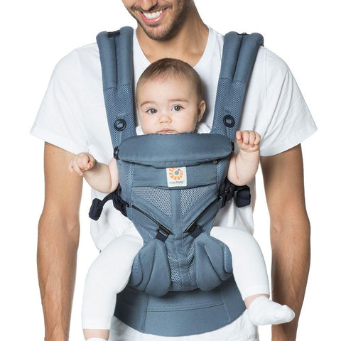 ErgoBaby's all-in-one, newborn ready Omni 360 now comes in a Cool Air Mesh option perfect for the Australian climate. Omni 360 grows with you from week 1 to 36 months. The crossable shoulder straps give a personalised fit. Ergonomic, forward facing option. Adjustable from newborn to toddler.