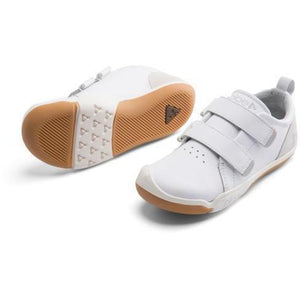 Check back-to-school kicks off your list with this all white leather children's sneaker. Sleek but sturdy, they'll earn an A+ in the classroom with enough support and protection to survive a whole year of recesses. Plae Shoes are standard US sizing