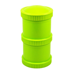 Re-Play's Snack Stacks are great on-the-go! Durable and affordable, Snack Stacks provide endless storage uses for anything from solid snacks to powders and liquids. Mix and match Snack Stacks with colourful tableware sets! Perfect for packing infants, toddlers, and kids snack food for school and play-date lunches.