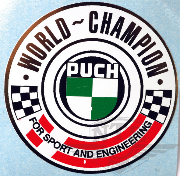 Puch world champion sticker 50 mm